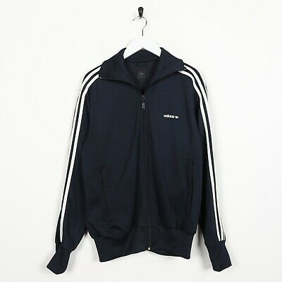 Vintage ADIDAS ORIGINALS Small Logo Tracksuit Top Jacket Navy Blue | Medium M