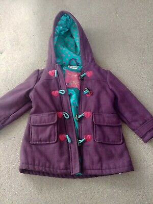 Girls Coat Jacket Marks And Spencer Autograph 3-4 Years Girls purple pink hearts