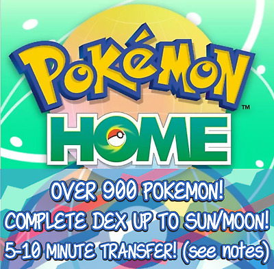 Pokemon Home 800+ Pokemon Transfer Complete PokeDex