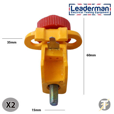Leaderman 2x Mini Circuit Breaker Lockout isolation device with Tie Bar LMLOK7