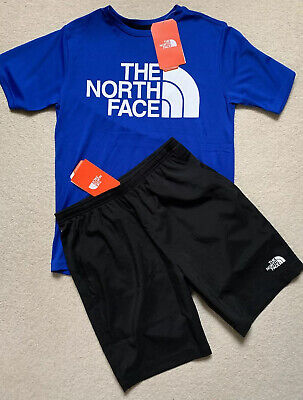 Boys The North Face Summer Ready Bundle Flash Dry Shorts/Tshirt New Age 14/16