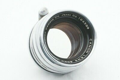 """""""TESTED / EXC++"""" CANON 50mm f1.8 Chrome Leica screw mount L39 LTM From JAPAN"""