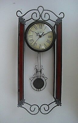 Howard Miller Carmen Wall Clock 625-326 Swinging Pendulum 20""