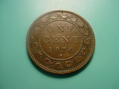 Canada 1876-H Large Cent In Very Nice Condition