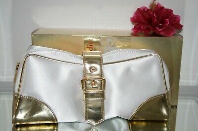 Christian Dior White Gold Make Up Cosmetic Bag Jewellery Travel Case Clutch