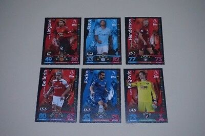 x6 2018 Official Topps Match Attax Trading Cards