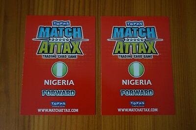Official Topps Match Attax Trading Cards x2 NIGERIA