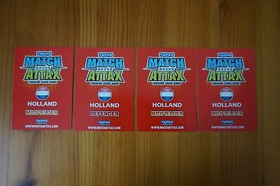 Official Topps Match Attax Trading Cards x4 HOLLAND