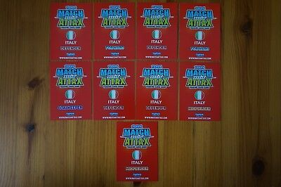 Official Topps Match Attax Trading Card x9 ITALY