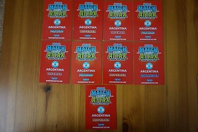 Official Topps Match Attax Trading Cards x9 ARGENTINA