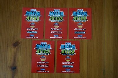 Official Topps Match Attax Trading Cards x5 GERMANY