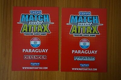 Official Topps Match Attax Trading Card x2 PARAGUAY