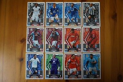 Official Topps Match Attax Trading Cards x12 Blue Back