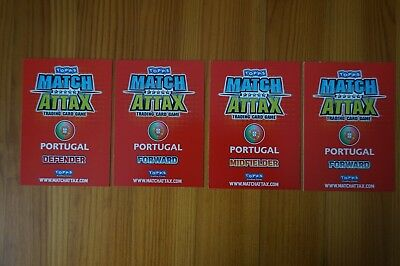 Official Topps Match Attax Trading Card x4 PORTUGAL