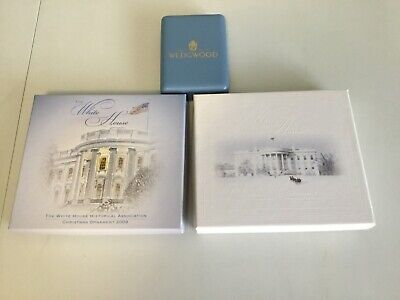 White House Historical Association And Signed Wedgewood Christmas Ornament Lot
