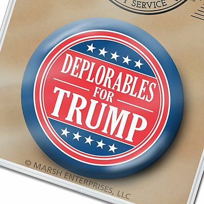 """Deplorables for Donald Trump Button - Mike Pence 2.25"""" Pin Basket 2020"""