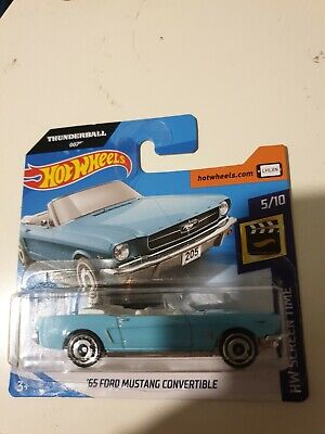 Hot Wheels '65 Ford Mustang Convertible James Bond #59 2020 new on short card
