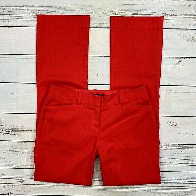 The Limited Drew Fit Dress Pants Size 2 Womens Lobster Red Stretch Straight Leg
