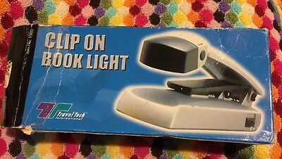❤️Travel Tech Portable Clip On Stand Booklight Book Light Reading Lamp Camping