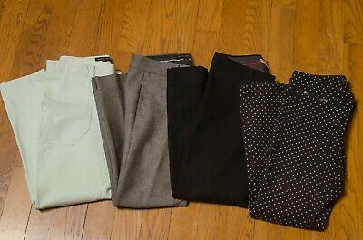 Banana Republic Womens Sloan Ankle Skinny-fit pants Size 0 Short Lot of 4