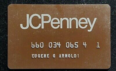 JC Penney Credit Card ♡Free Shipping♡cc877♡