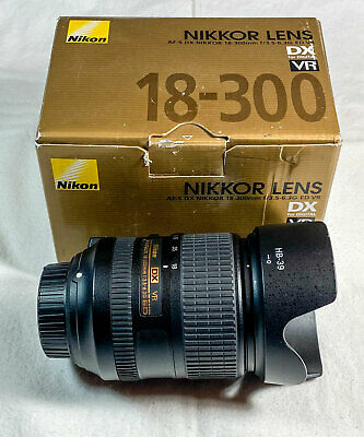 Nikon AF-S DX NIKKOR 18-300mm f/3.5-6.3G ED VR Lens, in Original Box