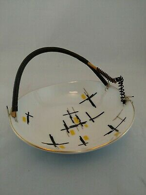 Vintage Mid Century Modern Fred Roberts small bowl with handle