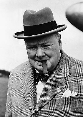 Art Print POSTER Winston Churchill with Cigar