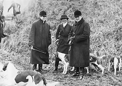 Art Print POSTER Winston Churchill Hunting with his Son Randolph and Coco Chanel