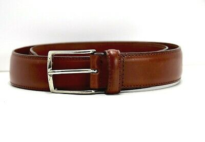 Shoes & Shirts Classic Mens Leather Belt Brown Size 34