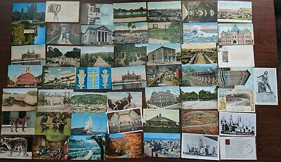 Lot of 50 Vintage Postcards, Greeting, Cities Old Check #2