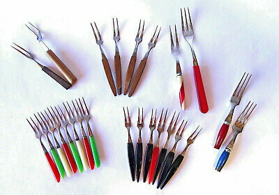 Vintage Japanese* Cocktail-Hors d'oeuvres Forks ~ 25 Assorted ~ c1950s-1970s