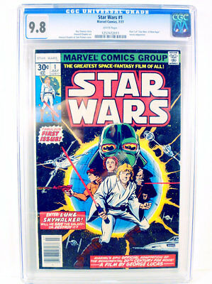 Star Wars #1 Comic Book:  July 1977 - Graded Cgc 9.8 - White Pages!
