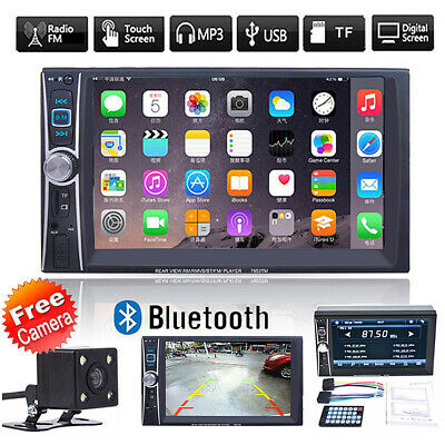 "6.6"" Car Stereo Radio HD Mp5 Player Touch Screen Bluetooth 2Din Rearview &Camera"