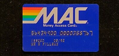 MAC Card expired 1992♡Free Shipping♡ cc720