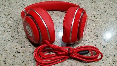 Beats by Dr dre Studio 2.0 wired Headband Headphones Red color