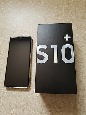 "Samsung Galaxy S10+ Plus SM-G975F 128GB White 4G 6.4"" Unlocked Phone."