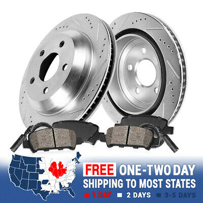 High-End Front+Rear Kit 5lug 8 Semi-Metallic Pads 4 Black Coated Cross-Drilled Disc Brake Rotors Fits:- Odyssey