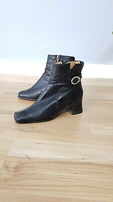 BOOTS ANKLE LEATHER heel - Supersoft by