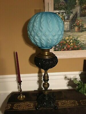 Antique 19th century Oil Lamp, Converted To Electric, Possibly B & H