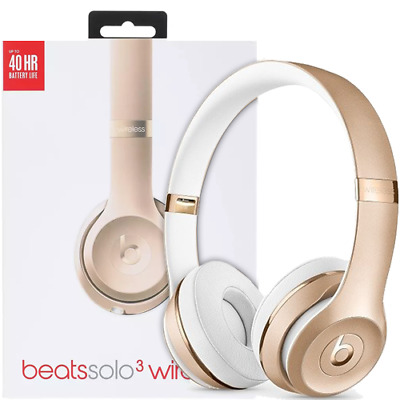 CUFFIE ON EAR BEATS BY Dr. Dre SOLO 3 WIRELESS SENZA FILI GOLD ORO