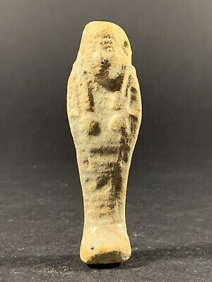 Scarce Ancient Egyptian Shabti With Visible Hieroglyphics Circa. 600-300Bce