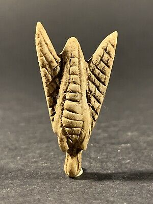Ancient Egyptian Stone Detailed Bee Amulet Pendant - Circa 770-332Bc