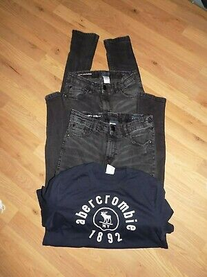 Boys * Next Abercrombie & Fitch *Super Skinny Jeans & Top X 3 Items Age 15-16Yrs