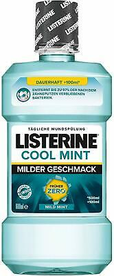 Listerine Zero Mild Mint, mouthwash without alcohol - 500ml - 4x New