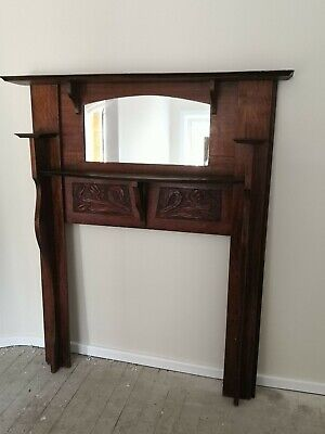 Antique hand-carved art deco period mantel/fireplace surround EXCELLENT COND.
