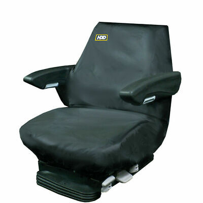 331 Tractor Seat Cover Black Large Heavy Duty Design Waterproof JCB Plant