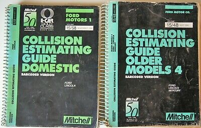 1996 Mitchell Ford Collision Estimating Guide Bar Code Version set to 2