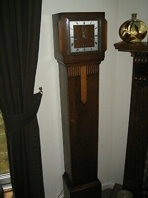Superb working Art Deco Long Cased Clock,  Westminster Chimes.