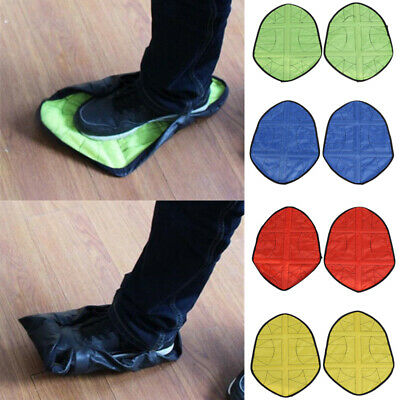 Reusable Step in Sock Portable Auto-Package Overshoes Waterproof Shoe Covers NEW